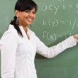 Young attractive indian math teacher — Stock Photo