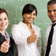 School teachers thumbs up — Stock Photo