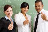 Scuola insegnanti pollice in alto — Foto Stock