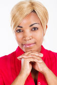 African american vrouw close-up portret — Stockfoto