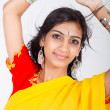 Young pretty Indian woman closeup portrait — Stock Photo