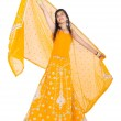 Full length portrait of indian woman — Stock Photo