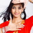 Beautiful indian woman studio portrait — Stock Photo
