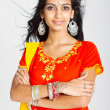 Young indiwomin traditional sari — Stock Photo #11938479