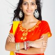 Stock Photo: Young indiwomin traditional sari