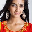 Beautiful indian woman closeup portrait - Stock Photo