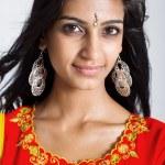 Beautiful indian woman closeup portrait — Stock Photo #11938488