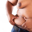 Overweight african american man — Stock Photo