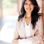 Casual female university student portrait — Stock Photo