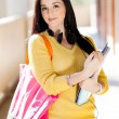 Female college student portrait — Stockfoto