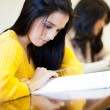 College students studying in classroom — Stock Photo