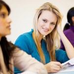 University students in classroom — Stock Photo #11939771
