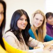 University students in classroom — Stock Photo