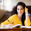 Stock Photo: College student in classroom