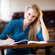 Happy college student in classroom — Stock Photo #11939838