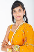 Young indian woman half length portrait — Stock Photo