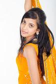Young Indian woman in sari — Stock Photo