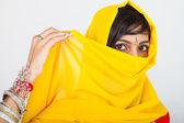 Indian woman in sari — Stock Photo