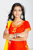 Young indian woman in traditional sari — Stock Photo