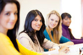 University students in classroom — Stock Photo