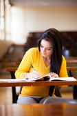 College student stuying in lecture hall — Stock Photo