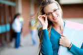 Attractive young university student — Stock Photo