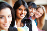 Group of female college girls — Stock Photo