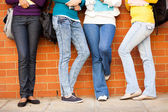 College students jeans — Stock Photo