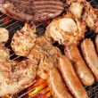 Meat on the barbecue grill — Stock Photo #10803300