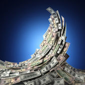 Pengar våg — Stockfoto
