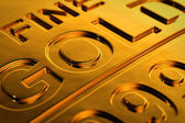 Gold bar close-up — Stock Photo