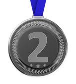 Silvermedaljstříbrná medaile — Stockfoto