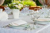 Beautifully served table — Stock Photo