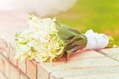 A beautiful bridal bouquet — Stock Photo