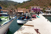Pier For Fishing Boats At Capraia Island — Stock Photo