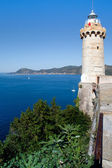 Lighthouse Above The Sea, Portoferraio, Elba Island — Stock Photo