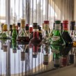 Stock Photo: Variety of alcoholic drinks in bar
