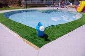 Heart shaped swimming pool — Stock Photo