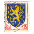 Nevers City Coat of Arms Postage Stamp — Stock Photo #11906483