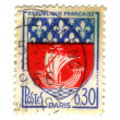 Paris City Coat of Arms Postage Stamp — Stock Photo #11906489