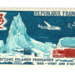 Stock Photo: Old french stamp - Polar exploration 1968