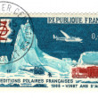 Old french stamp - Polar exploration 1968 — Stock Photo