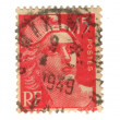 Old red french stamp — Stock Photo #11906544