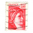 Old red french stamp — Stock Photo #11906589
