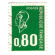 Old green french stamp — Stock Photo #11906625
