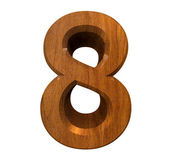 3d number 8 in wood — Stock Photo