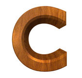 3d letter C in wood — Stock Photo