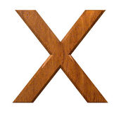 3d letter X in wood — Stock Photo