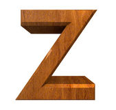 3d letter Z in wood — Stock Photo