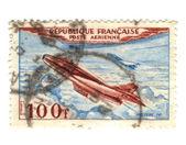 Fransa'dan eski havayolu posta pulu — Stok fotoğraf